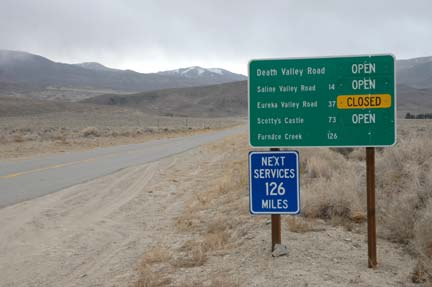 Turnoff to the North Pass